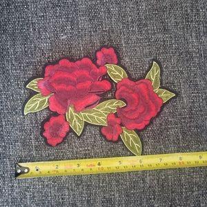 2 Gorgeous Iron on patches